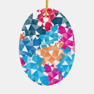 Ornement Ovale En Céramique Formes 3D géométriques colorées