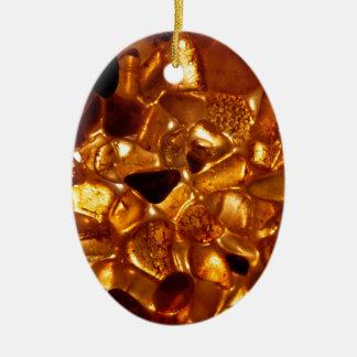 Ornement Ovale En Céramique Grains ambres avec l'illumination de contre-jour