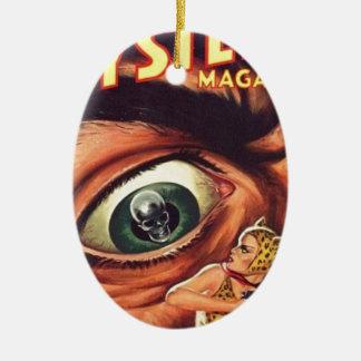 Ornement Ovale En Céramique Grand oeil effrayant