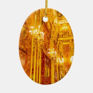 Ornement Ovale En Céramique Grande pièce d'ambre de Tsarskoye Selo du palais