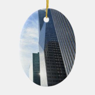 Ornement Ovale En Céramique Gratte-ciel Manhattan d'avenue de photographie de