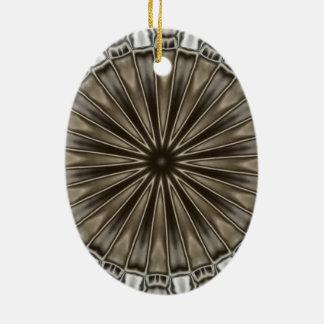 Ornement Ovale En Céramique Gris élégant élégant de Brown de conception de