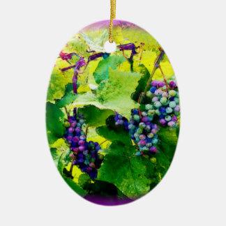 Ornement Ovale En Céramique groupes d'ornement des raisins 17