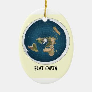 Ornement Ovale En Céramique Image de la terre plate