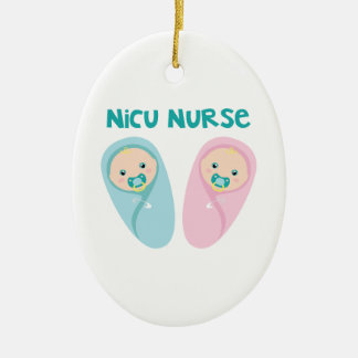 Ornement Ovale En Céramique Infirmière de NICU