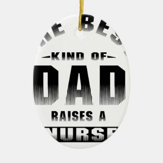 Ornement Ovale En Céramique Infirmière, le meilleur genre de papa