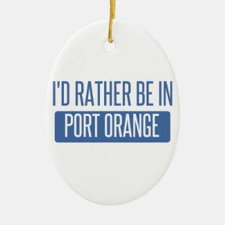 Ornement Ovale En Céramique Je serais plutôt dans l'orange de port