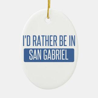Ornement Ovale En Céramique Je serais plutôt dans San Gabriel