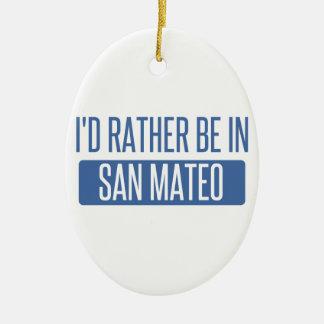 Ornement Ovale En Céramique Je serais plutôt dans San Mateo
