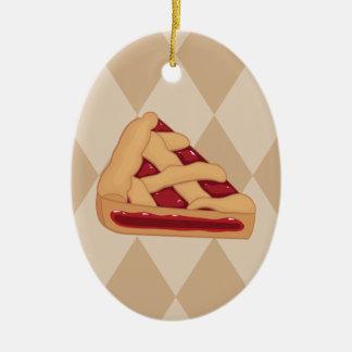 Ornement Ovale En Céramique Jour de tarte aux cerises - jour d'appréciation