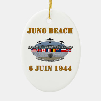 Ornement Ovale En Céramique Juno Beach 1944 Normandie