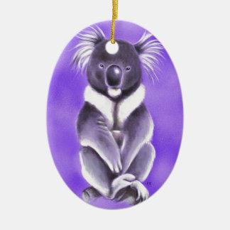 Ornement Ovale En Céramique Koala de Bouddha