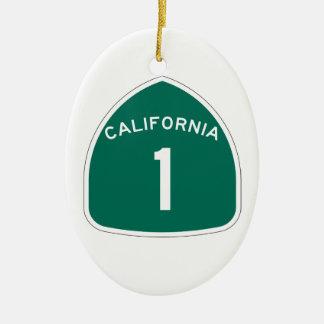 Ornement Ovale En Céramique La Californie 1