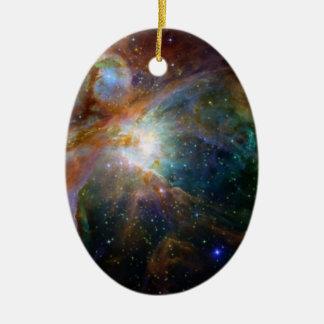 Ornement Ovale En Céramique La NASA brun-rougeâtre de nébuleuse d'Orion