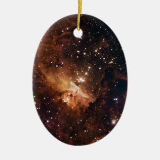 Ornement Ovale En Céramique La NASA brune d'étoiles de Pismis 24