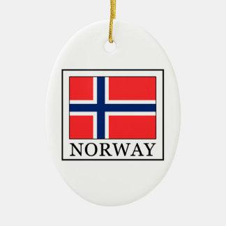 Ornement Ovale En Céramique La Norvège