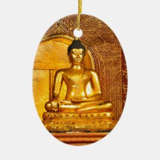 Ornement Ovale En Céramique la Thaïlande Bouddha