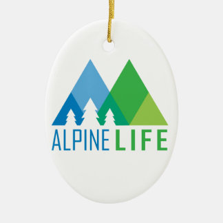 Ornement Ovale En Céramique La vie alpine