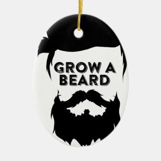 Ornement Ovale En Céramique Laissez-vous pousser une barbe alors que nous