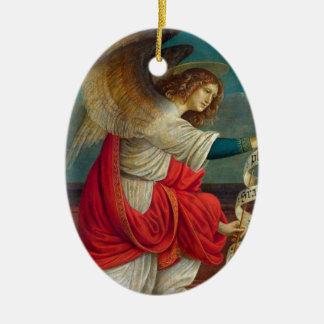 Ornement Ovale En Céramique L'ange Gabriel - Gaudenzio Ferrari