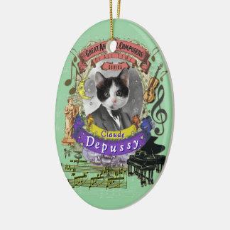 Ornement Ovale En Céramique Le compositeur animal Debussy de chat de Claude