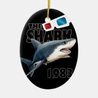 Ornement Ovale En Céramique Le film de requin