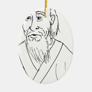 Ornement Ovale En Céramique Le Laotien Tzu