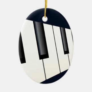 Ornement Ovale En Céramique Le piano verrouille la perspective