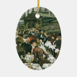 Ornement Ovale En Céramique Les dames de l'artiste par James Tissot
