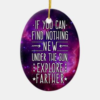Ornement Ovale En Céramique L'exploration de galaxie/nébuleuse d'espace