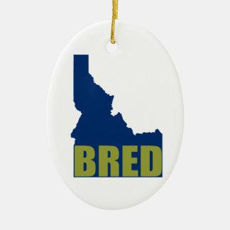 Ornement Ovale En Céramique L'Idaho a multiplié