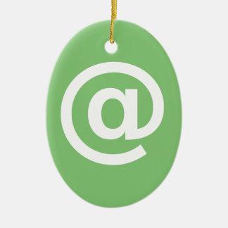 Ornement Ovale En Céramique Logo de courriel