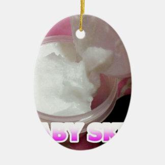 Ornement Ovale En Céramique Lotion de peau de bébé