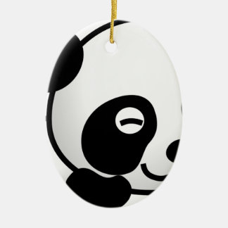 Ornement Ovale En Céramique Lovely little Panda