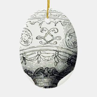 Ornement Ovale En Céramique Luftschiff_Montgolfier