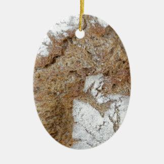 Ornement Ovale En Céramique Macro photo de la surface du pain brun
