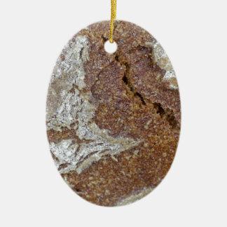 Ornement Ovale En Céramique Macro photo de la surface du pain brun de Ger