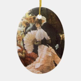 Ornement Ovale En Céramique Madame politique par James Tissot, cru victorien
