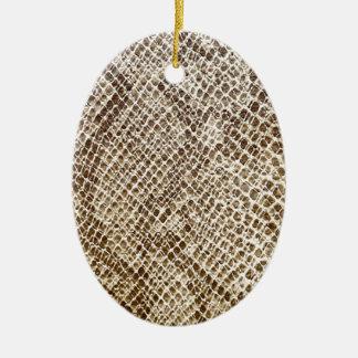 Ornement Ovale En Céramique Motif de peau de reptile