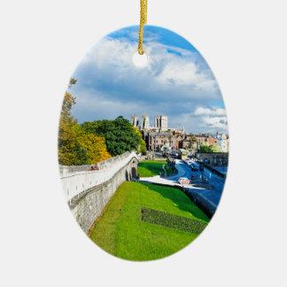 Ornement Ovale En Céramique Murs et Minster de York