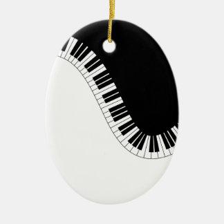 ORNEMENT OVALE EN CÉRAMIQUE MUSIQUE DE PIANO