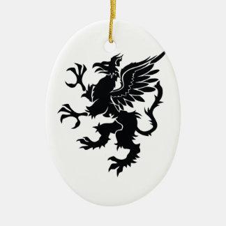 Ornement Ovale En Céramique Mythological dragon