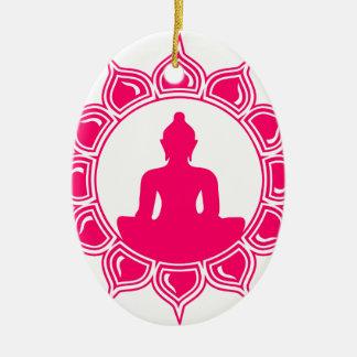 Ornement Ovale En Céramique Namaste