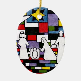Ornement Ovale En Céramique Nativité de Mondrian - de Stijl - Neoplasticism