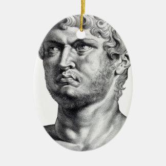 Ornement Ovale En Céramique Nero