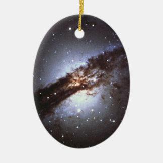 Ornement Ovale En Céramique NGC 5128 Centaurus une NASA de galaxie