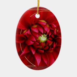 Ornement Ovale En Céramique Noël de dahlia