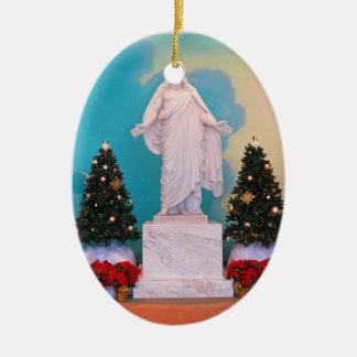 Ornement Ovale En Céramique Noël mormon de Christus