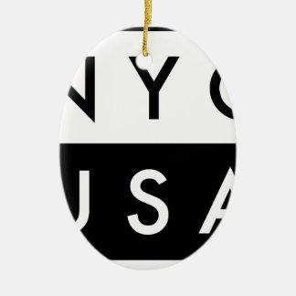 ORNEMENT OVALE EN CÉRAMIQUE NYC ETATS-UNIS