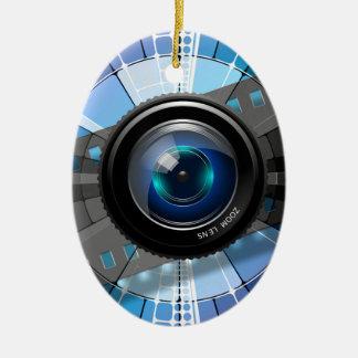 Ornement Ovale En Céramique Objectif de caméra